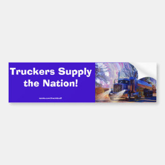 Truckers Tanker Lorry Heavy Transport Gift Bumper Sticker
