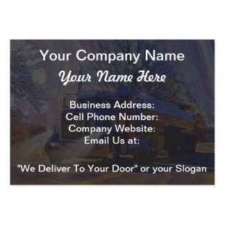 Truckers Tanker Lorry Heavy Transport Gift Large Business Cards (Pack Of 100)