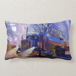 Truckers Tanker Lorry Heavy Transport Gift Lumbar Pillow