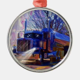 Truckers Tanker Lorry Heavy Transport Gift Metal Ornament