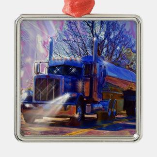 Truckers Tanker Lorry Heavy Transport Gift Metal Ornament