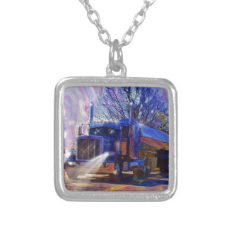 Truckers Tanker Lorry Heavy Transport Gift Silver Plated Necklace