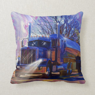 Truckers Tanker Lorry Heavy Transport Gift Throw Pillow