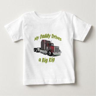 Truckers - Teamsters - Maroon Big Rig - Dad Baby T-Shirt