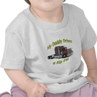 Truckers - Teamsters - Maroon Big Rig - Dad T-shirts
