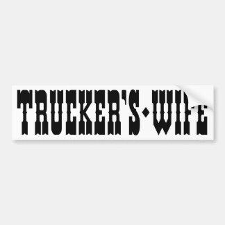 Trucker's Wife Bumper Sticker