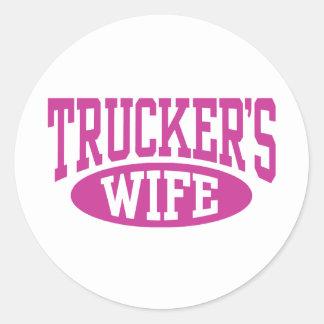 Trucker's Wife Classic Round Sticker