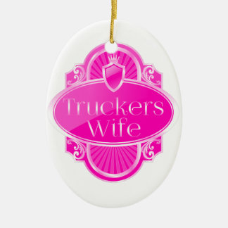Truckers Wife Oval Ornament