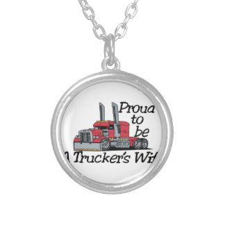 Truckers Wife Silver Plated Necklace