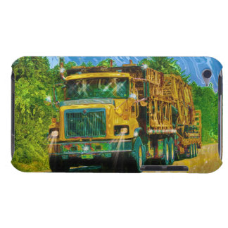 Truckers Yellow Scaffolding Lorry Heavy Transport Barely There iPod Cover