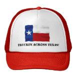 Truckin Across Texas - Red Trucker Hat