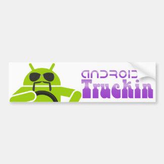 Truckin androide, pegatina para el parachoques and pegatina de parachoque