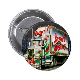 Truckin Santa - Button