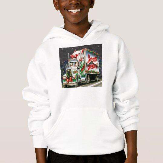 Truckin Santa - Kids Hooded Sweatshirt