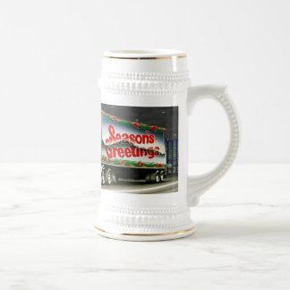 Truckin Santa - Stein Coffee Mugs