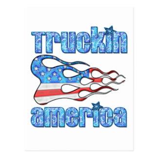 Truckin USA Postcard