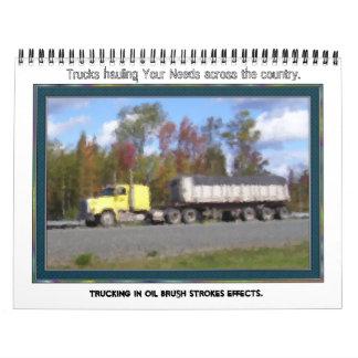 Trucking Across The Country Calendar