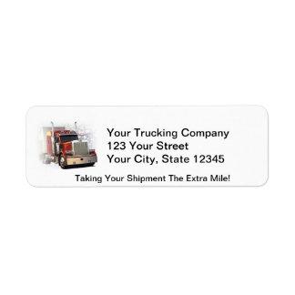Trucking Address Labels