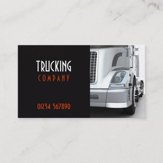 Trucking business card zazzle trucking business card colourmoves