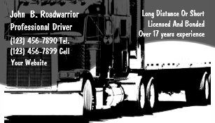 trucking business card - Trucking Business Cards