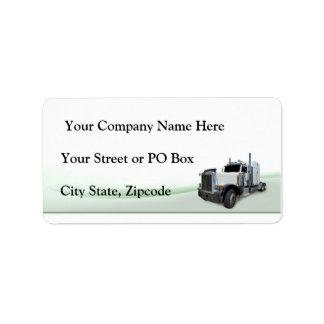 Trucking Company Address Label