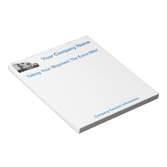 Trucking Company NotePad