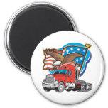 Trucking Eagle Fridge Magnets