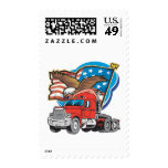 Trucking Eagle Postage Stamp
