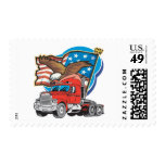 Trucking Eagle Postage Stamps