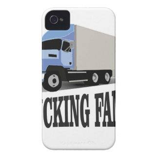 trucking family blue Case-Mate iPhone 4 case
