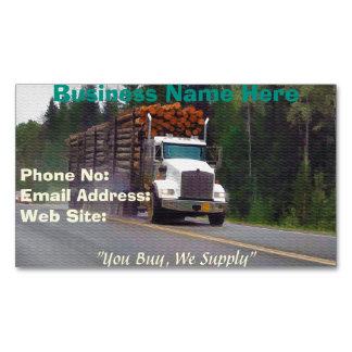 Trucking Firms Delivery Transport Biz Cards Business Card Magnet