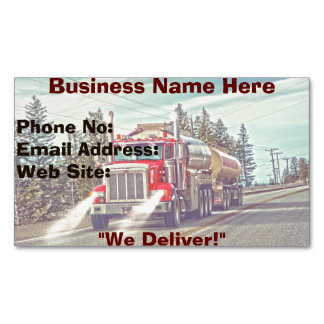 Trucking Firms Delivery Transport Biz Cards Magnetic Business Card