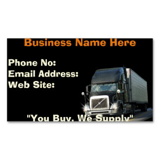 Trucking Firms Delivery Transport Biz Cards Magnetic Business Cards (Pack Of 25)