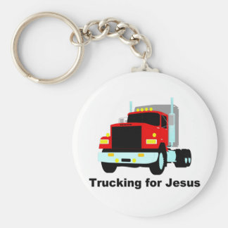 Trucking for Jesus Keychains