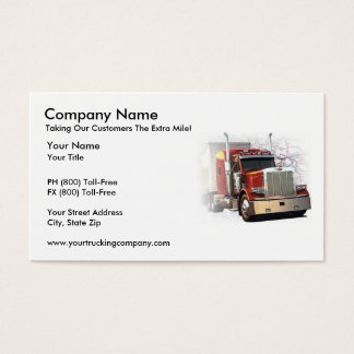 Recruiting business cards templates zazzle for Trucking business card design