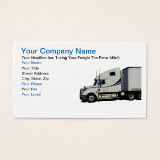 Trucking Industry Business Card