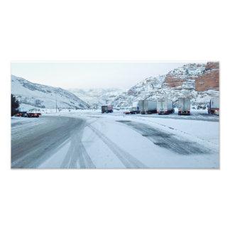 Trucking Interstate 80 Coalville Utah USA Photo Print