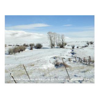 Trucking Interstate 80 Rawlins Wyoming USA Postcard