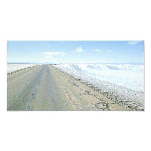 Trucking Interstate 80 Wyoming USA Photo Print