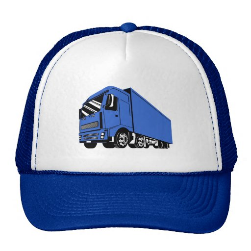 trucking lorry truck container van cartage mesh hat