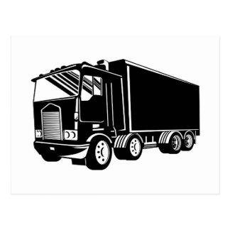 trucking lorry truck container van cartage post cards