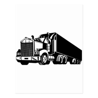 trucking lorry truck container van cartage postcard
