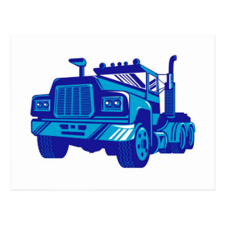 trucking lorry truck container van cartage post card