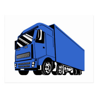 trucking lorry truck container van cartage postcards