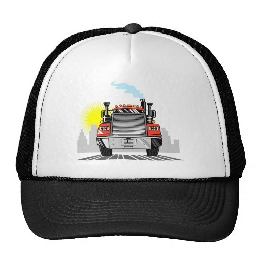 trucking lorry truck container van hat