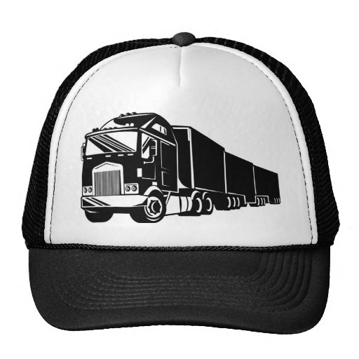 trucking lorry truck container van mesh hat