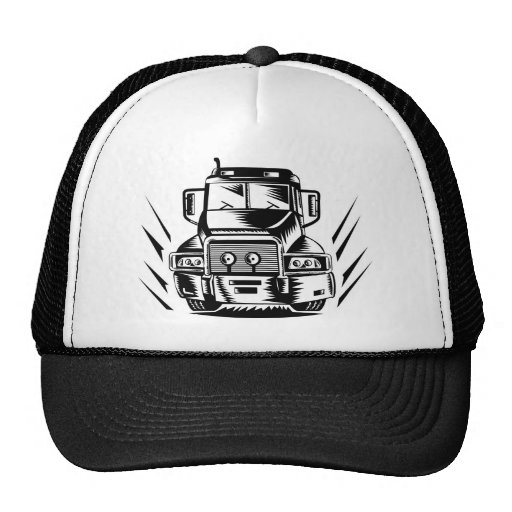 trucking lorry truck container van mesh hats