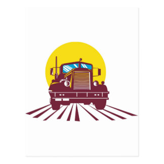 trucking lorry truck container van postcards