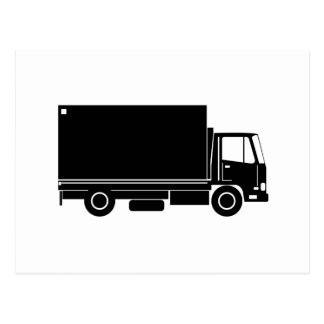 trucking lorry truck container van post cards