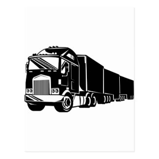 trucking lorry truck container van postcard